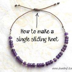 How to Make a Single Sliding Knot Closure {Video}