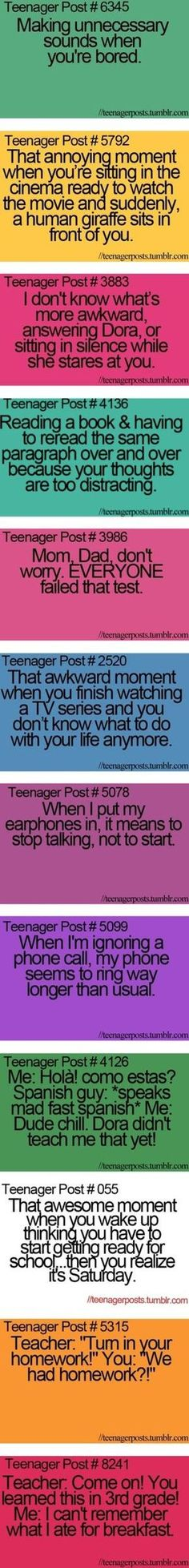 these are supposed to be teenager posts but im pretty sure most of them still apply to my adult life