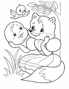сказка колобок --Russian fairy tale The Gingerbread Man Activities For Kids, Crafts For Kids, Photo On Wood, Simple Art, Colouring Pages, Art Pages, Coloring Pages For Kids, Nursery Rhymes, Animal Drawings