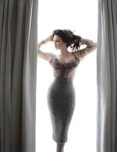 Carla Gugino -- something about her mesmerizes me! I love watching her act in anything, gorgeous woman.