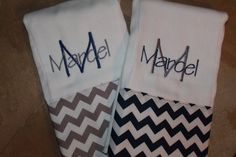 Set of 2 Personalized Burp Cloths-Baby Boy on Etsy, $18.00