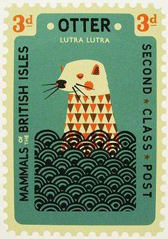 Завораживающий дизайн почтовых марок
