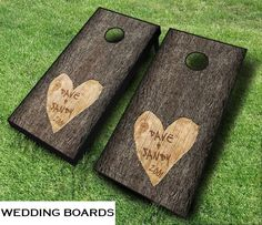 Cornhole Bag Toss - Wedding Tree Set, $149.99 (http://www.cornhole-bagtoss.com/wedding-tree-set/)