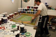What is Serigraph Printing? Block Prints, Art Prints, Long House, Native Art, 15th Century, Poker Table, Silk Fabric, Origins, Printing Process