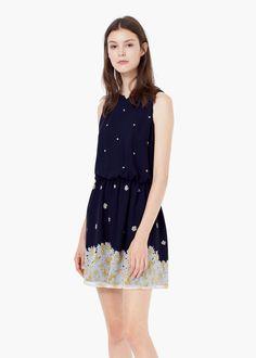 Vestido estampado flores - Vestidos de Mujer | MANGO