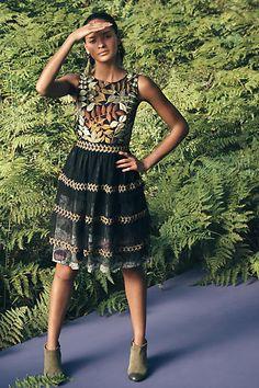 Embroidered Vigne Dress - anthropologie.com