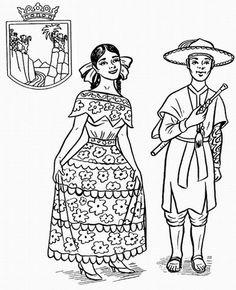 Chiapas trajes tipicos de mexico para colorear - Buscar con Google