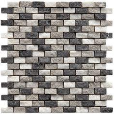 "Found it at Wayfair - EliteTile Grizelda 1-1/4"" x 1/2"" Natural Stone Mosaic in Charcoalhttp://www.wayfair.com/EliteTile-Grizelda-1-1-4-x-1-2-Natural-Stone-Mosaic-in-Charcoal-GYMHSDI-OVS1420.html?refid=SBP"