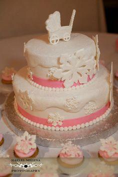 Baby Shower Snowflake Cake!