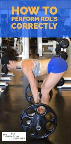 How to do a Romanian Deadlifts (RDLs) Correctly and Safely. This post covers proper romanian deadlift form with videos, along with the benefits and muscles worked in this exercise. It is great for men and women alike Best Chest Workout, Chest Workouts, Fit Board Workouts, Gym Workouts, Workout Tips, Exercise Moves, Chest Exercises, Exercise Routines, Workout Exercises