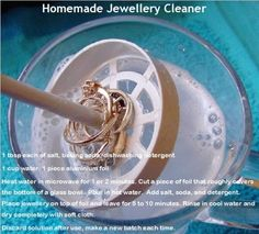 Home made jewellery cleaner