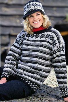 Tema 15: Modell 27 Fana genser, dame og herre #strikk #klassiker