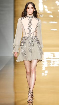 Embellished | Reem Acra Fall/Winter 2015It won't be Fashion Week without some gorgeously embellished pieces. Reem Acra's intricate detailing was a standout among many. via @stylelist