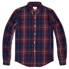 Band of Outsiders Flannel Check Button Down Shirt
