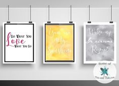 Needing some inspiration in your life? Grab these free Inspirational Printables! Download them and print them from home!