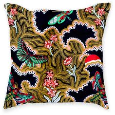 Paradise Throw Pillow ($32) ❤ liked on Polyvore featuring home, home decor, throw pillows, patterned throw pillows and embroidered throw pillows