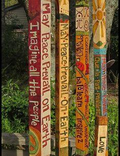 Colorful Peace Poles Design Ideas For Your Garden 35