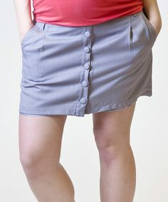 Take a look at this Stone Linen Under-Belly During & After Maternity Skirt - Women on zulily today!