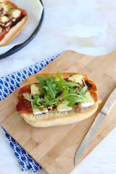 Broodje brie met serranoham