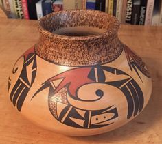Native American Hopi Jar Pottery Dawn Navasie