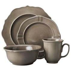 Threshold™ 16 Piece Wellsbridge Dinnerware Set - Mocha : Target