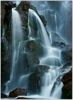 Timberline Falls, Rocky Mountain National Park, Colorado - by Ron Niebrugge scenery Beautiful Waterfalls, Beautiful Landscapes, Imagen Natural, Rocky Mountain National Park, Nature Pictures, Nature Images, Belle Photo, Rocky Mountains, Amazing Nature