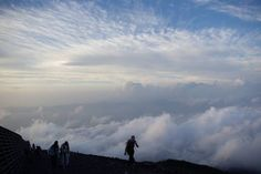 Climbing Mt. Fuji - should try this