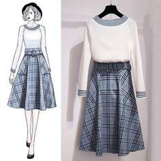 Set Fashion, Korea Fashion, Asian Fashion, Fashion Art, Girl Fashion, Fashion Dresses, Vintage Fashion, Pretty Outfits, Cool Outfits