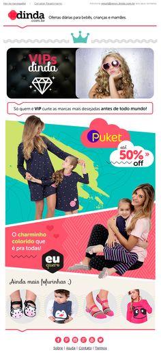E-mail divulgando coleção da marca Puket para base VIP