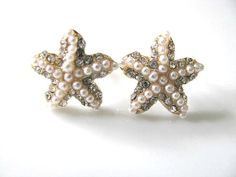 Hey, I found this really awesome Etsy listing at https://www.etsy.com/listing/153059152/crystal-pearl-starfish-stud-earrings