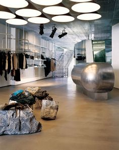 The interior design division is established as design research studio to de Retail Interior Design, Studio Interior, Commercial Interior Design, Commercial Interiors, Exterior Design, Interior And Exterior, Retail Architecture, Interior Wallpaper, Wallpaper Magazine