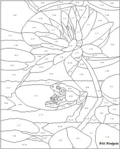 """Frog Coolin' It on a Lily Pad pattern. Pattern is 24"""" wide by 30"""" high"""