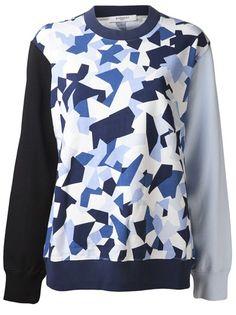GIVENCHY Patchwork Print Sweatshirt