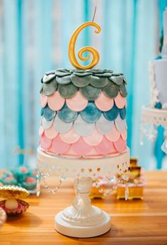 Mermaid themed birthday party via Kara's Party Ideas | The Place for All Things Party! KarasPartyIdeas.com (15)