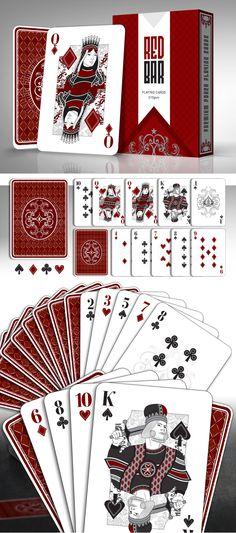 Red Bar custom poker playing cards. Found on Kickstarter. https://www.kickstarter.com/projects/989416433/black-market-playing-cards