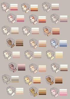 Skins 5 - (Anime, Farbe, zeichnen) Anime Art Paint Tool Sai Hautfarben & co:( Digital Painting Tutorials, Digital Art Tutorial, Painting Tools, Art Tutorials, Drawing Tutorials, Digital Paintings, Drawing Techniques, Sketch Painting, Painting Art