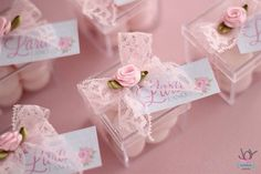 Primeiro ano da Lara {Shabby Chic} - Joy in the box Wedding Favours, Party Favors, Wedding Gifts, Shabby Chic, Ballerina Party, Baby Decor, Princess Party, Holidays And Events, Shower Gifts