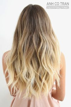 PERFECT BEACHY HAIR AT RAMIREZ|TRAN SALON. Cut/Style: Anh Co Tran. Appointment inquiries please call Ramirez|Tran Salon in Beverly Hills: 310.724.8167