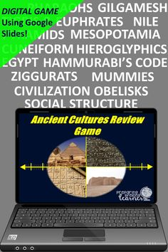 Your middle school social studies students will learn or review important features of Mesopotamia and Egypt with this fun digital game that uses Google Slides.  Perfect for in class or at home enrichment or review! Ancient Rome, Ancient Greece, Basic Geography, Social Studies Games, Digital Review, Map Skills, Enrichment Activities, Middle School Teachers, Review Games