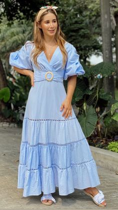 Campesina en ojalillo Girl Fashion, Womens Fashion, Office Fashion, Cotton Dresses, Casual Wear, Short Sleeve Dresses, Street Style, Style Inspiration, How To Wear