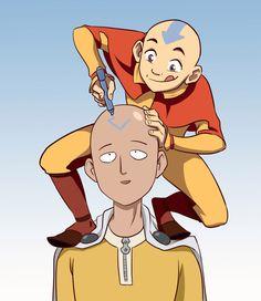OnePunch-Man & Avatar #opm #saitama #aang
