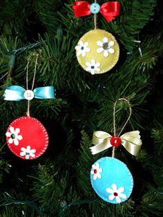 cute felt ornaments