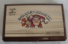 1980s DONKEY KONG 2 NINTENDO GAME & WATCH ELECTRONIC HANDHELD LCD ARCADE TOY 80s
