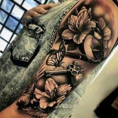 Beautiful – DIY Tattoo Project – # beautiful … - Famous Last Words Girly Tattoos, Dope Tattoos, Feminine Tattoos, Skull Tattoos, Pretty Tattoos, Beautiful Tattoos, Body Art Tattoos, Beautiful Beautiful, Flower Tattoos