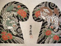 唐獅子牡丹 Karajishi Botan  #horitsubaki #japanesetattoo #彫椿 #越前和紙 #岩野平三郎 #karajishi #botan #唐獅子牡丹 #刺青 #wabori