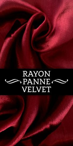 Rayon Panne Velvet in Cardinal Red