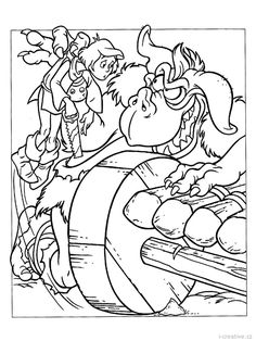 ogre tries to catch cavin coloring page from gummy bears category select from 27444 printable crafts of cartoons nature animals bible and many more