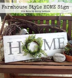 A Farmhouse Style Inspired sign perfect for your home.