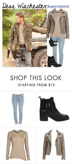 """""""Dean Winchester // Maile"""" by official-fandom-girls ❤ liked on Polyvore featuring Carvela Kurt Geiger, Holster and AllSaints"""