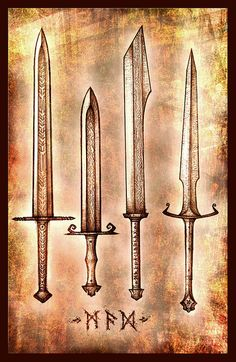 Swords of Twisted Fire by Cedarlore Forge, via Flickr